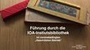 Führung durch die IOA-Institutsbibliothek, Universität Bonn