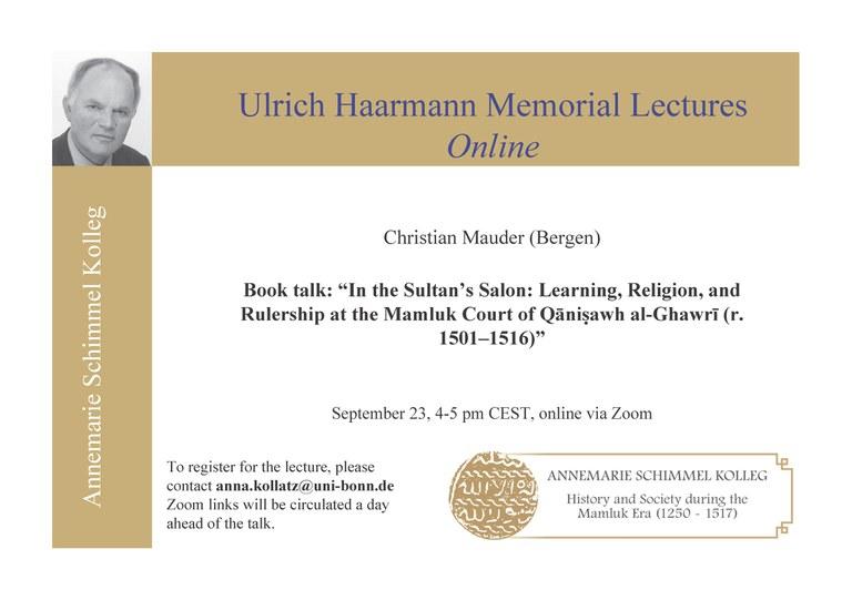 UHMLO September 23, 4-5 pm CEST
