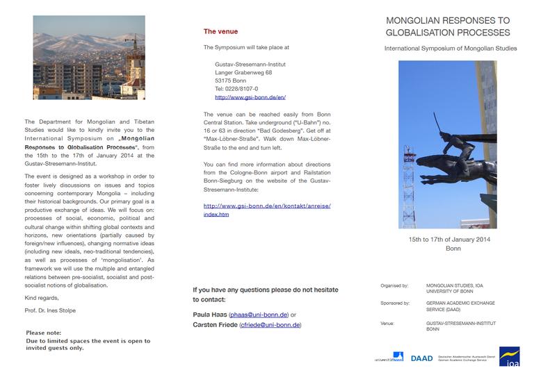 Mongolistik: Perspektiven Akademischer Kooperation